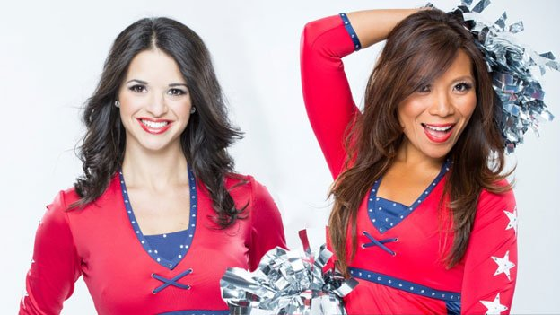 Becca, left, and Michelle are both Red Rockers — not to be confused with cheerleaders or ice girls.