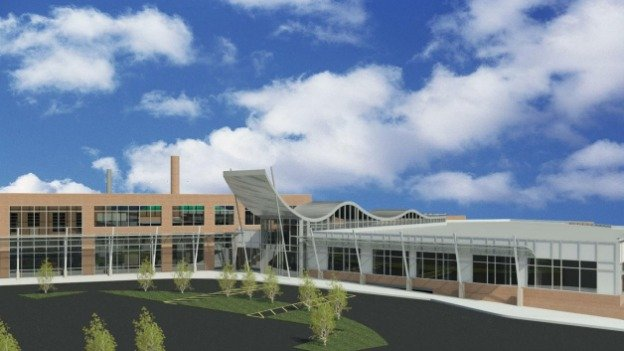 A rendering of a renovated River Terrace Elementary School, which will be used for special education students.