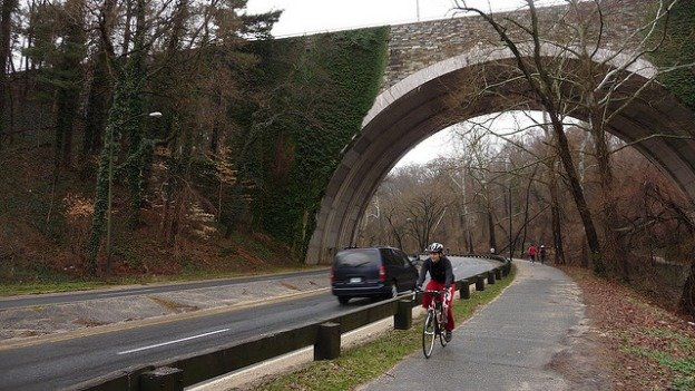 Cycling advocates want the Rock Creek Park bike trail to be repaired and widened.