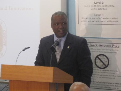 Prince George's County Executive Rushern Baker announces the creation of a commission to expand the STEM classes at public schools on Wednesday, June 16.