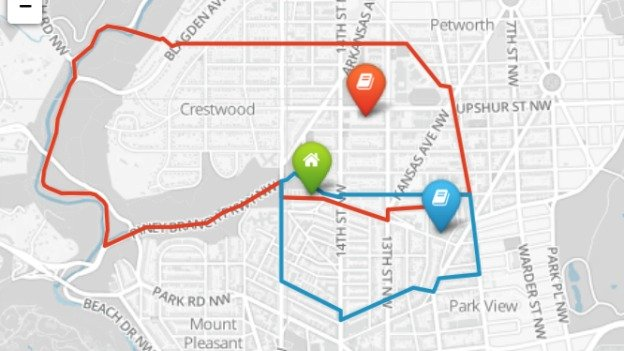 The OurDCSchools app allows residents to enter their address and see how school boundaries and feeder patterns could change under three proposals.
