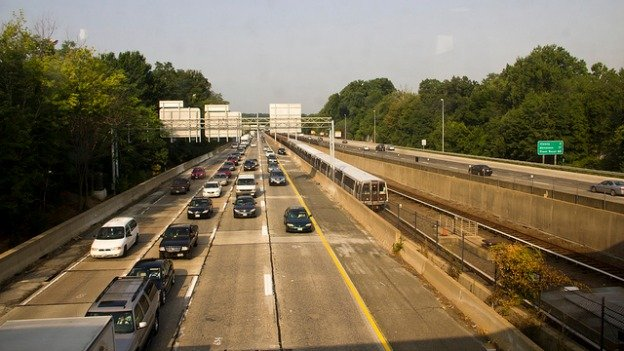 The shoulder on many local highways — like I-66, pictured here — could be used for buses, say some transportation planners.