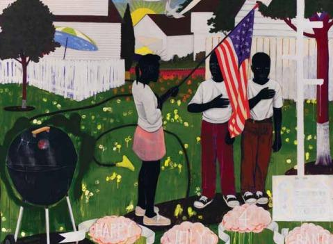 """Bang"" (1994) by Kerry James Marshall."