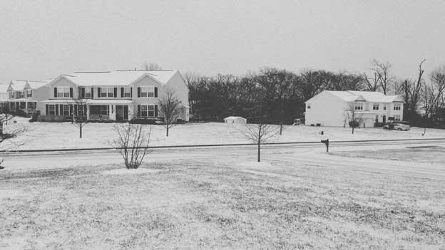 A snow dusting in Chantilly, Va., on Dec. 26, 2012.