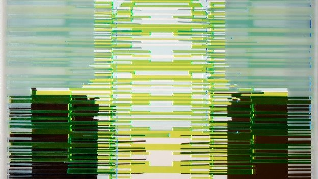 """""""Barcodes: Merging Identity & Technology"""" is a mixed media installation by Soledad Salamé."""