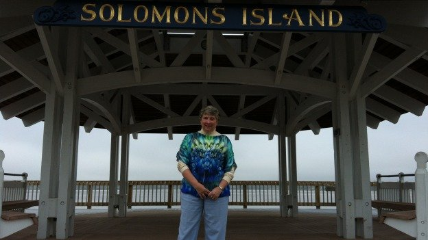 Solomons Island may be at the end of the road, but resident Anita Shepherd says the sunsets are worth the isolation.
