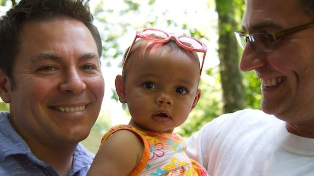 Kevin Sturtevant and Steve Geishecker adopted their daughter, Gabriella, just over a year ago.