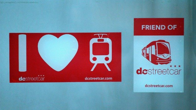 Businesses on H Street are showing their excitement for the streetcar.