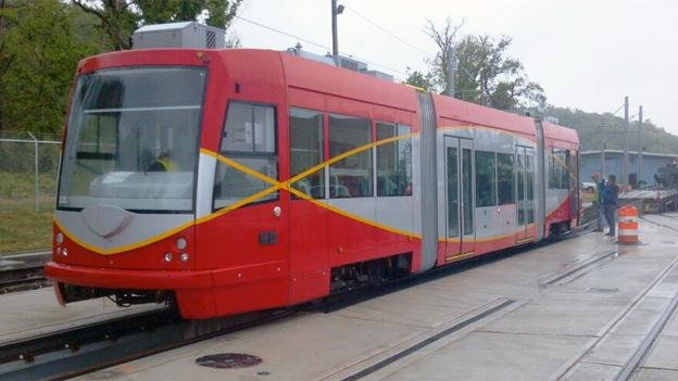 The streetcar will be transferred from Anacostia to H Street NE on Friday, weather permitting.