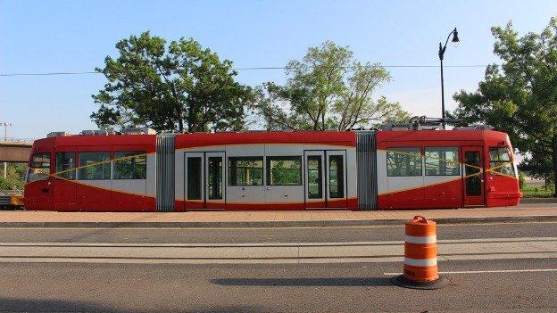 A streetcar on Benning Road NE.