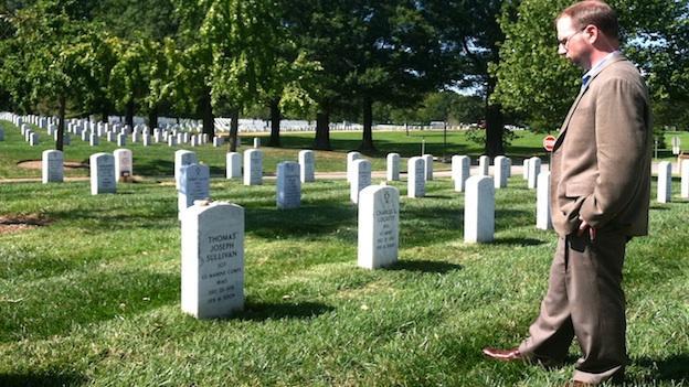 Dan Sullivan visits his brother's grave.