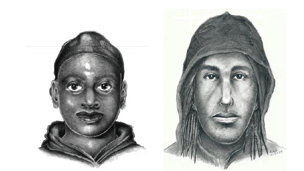 D.C. police have released sketches of two of three suspects sought in a Brookland burglary.