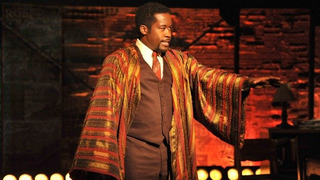 Daniel Beaty stars as Paul Robeson in Tectonic Theater Project's The Tallest Tree in the Forest.