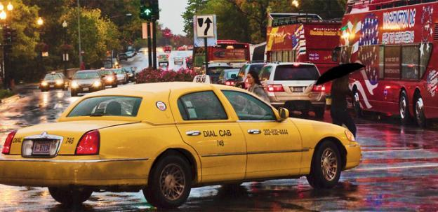 Some D.C. taxicabs will take credit cards at the end of August, but the majority won't take plastic until a month later.
