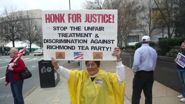 The Richmond Tea Party says it was among the groups targeted by the IRS over its status as a non-profit.