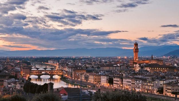 """For """"Tramonto,"""" photographer Richard Lasner snapped an image of Firenze, Italy at dusk."""