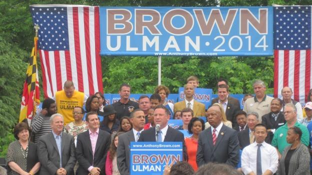 Brown and Ulman are the first official Democratic contenders for Maryland's top offices.
