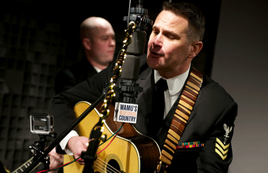 The United States Navy Band's Country Current performs in WAMU Bluegrass Country's still-new Bluegrass Studio on March 7, 2014. Bluegrass Country turns 47 today.