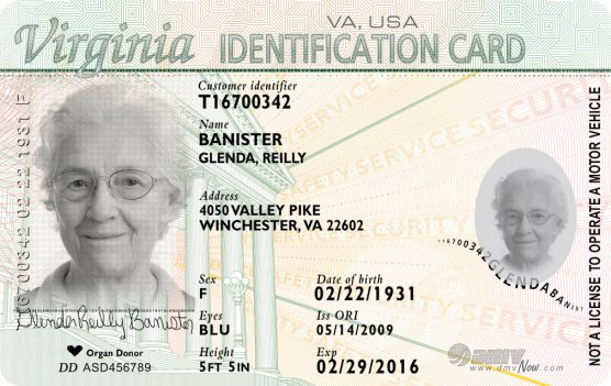 Virginia residents can get a photo ID at their local registrar's office.