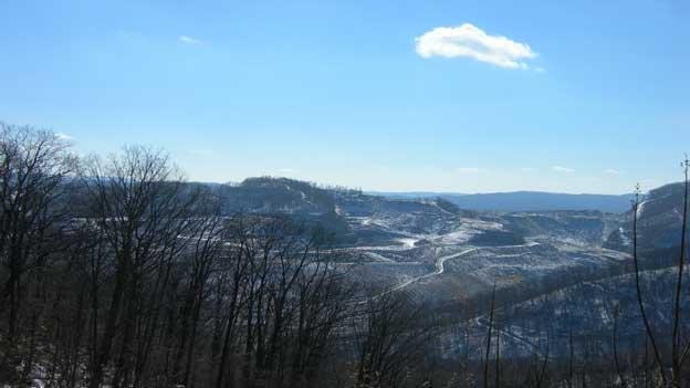 Black Mountain, located on the border of Kentucky and Virginia in Wise County, Va., has a long coal mining history.