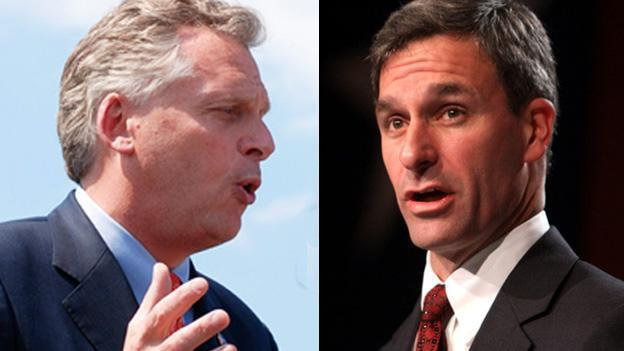 McAuliffe, a Democrat, raised more money and has more money in the bank than Republican contender Cuccinelli.