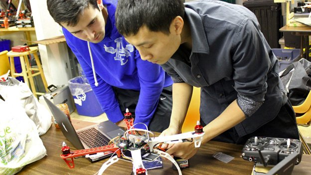 Christopher Vo, right, is the Director of Education in the D.C. Area Drone User Group, and the go-to guy for troubleshooting multicopters.