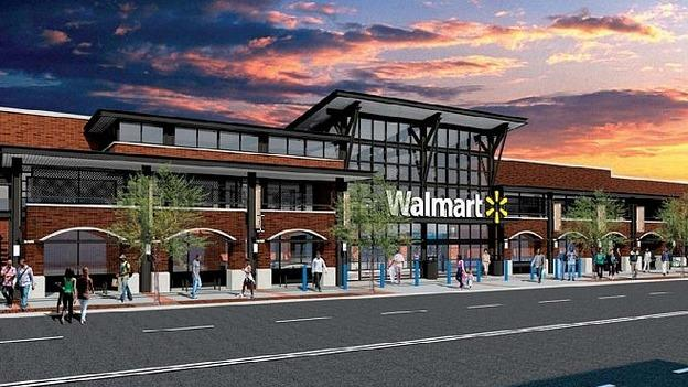 A rendering of the Walmart store on Georgia Avenue NW.
