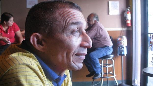 Walter Renaldo Arias in the restaurant he owns with his sister, Emily's on University Boulevard in Langley Park.
