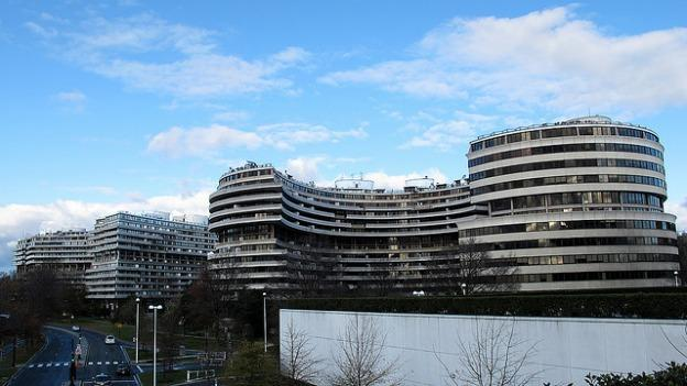 The Watergate Complex in Washington, D.C. was made famous by the 1972 break-in that brought down Richard Nixon.
