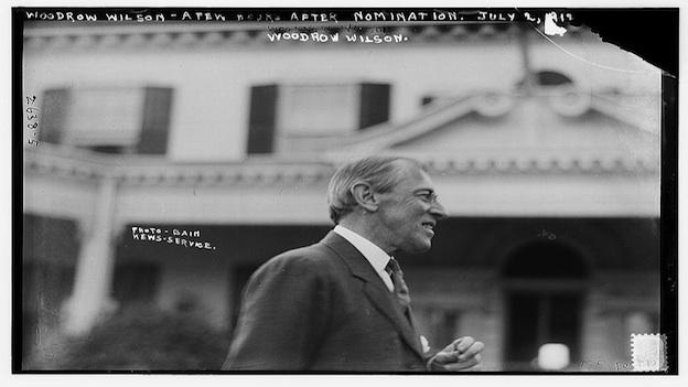 Woodrow Wilson, a few hours after his upset victory at the Democratic Convention, on July 2, 1912.