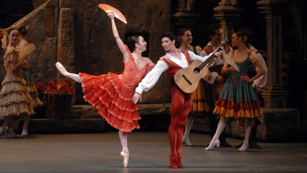 "Xiomara Reyes and Herman Cornejo perform in American Ballet Theatre's ""Don Quixote."""