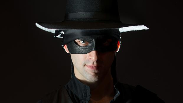 Danny Gavigan stars as Zorro in a new play about the mysterious, yet suave, masked defender of justice.