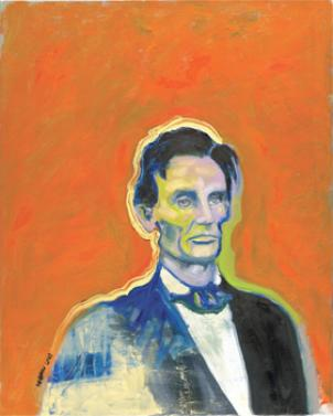 Wendy Allen's oil portrait of President Abraham Lincoln is one of the many works featured in Beyond the Blue and Grey: The Virginia Home Front at ArtSpace Herndon.