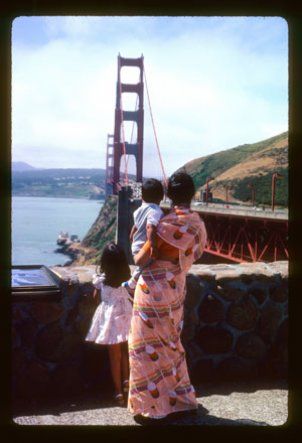 Beyond Bollywood: Indian Americans Shape the Nation includes photographs such as this 1983 snapshot of the Sharma family in San Francisco.