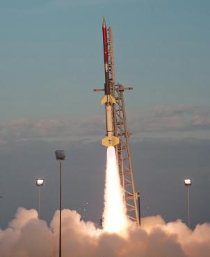 A test of a NASA Terrier-Improved Orion suborbital rocket was successfully conducted NASA's Wallops Flight Facility in Virginia in 2011.