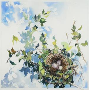 """New Life"" by Alice Kale took 3rd place in the juried exhibit at Green Spring Gardens."