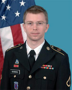 PFC Bradley Manning in the most recent Department of Army photo.