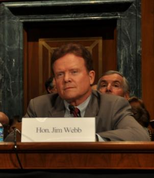 Virginia Democratic Senator Jim Webb is co-sponsoring a plan  that doubles U.S. nuclear plants with federal loan guarantees.