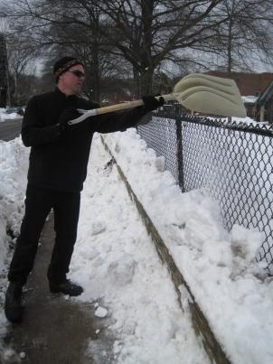 Several northern Virginia school districts leaned on parents and students for help clearing sidewalks around schools.
