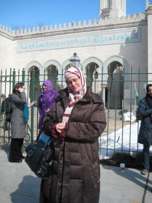 Fatima Thompson led a protest against women having to pray in an area other than the main prayer hall in a Northwest D.C. mosque.