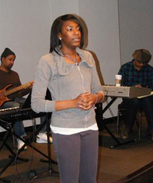 Brittany Timmons rehearses for the D.C. CAPital Stars Talent Competition.