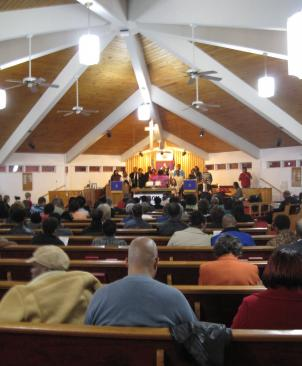 Dozens of people rallied against Metro's proposed budget cuts and fare hikes at a church in Capitol Heights, Md.