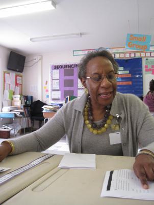 Experience Corps volunteer Jessie Wells.