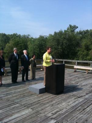 EPA Administrator Lisa Jackson announces a new federal strategy for restoring and protecting the Chesapeake Bay. EPA Administrator Lisa Jackson announces a new federal strategy for restoring and protecting the Chesapeake Bay.