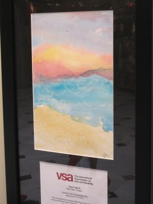 Taylor Bernard's painting of the Chesapeake Bay is on display at Union Station.