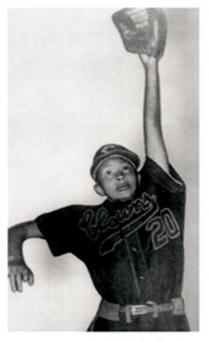"Mamie ""Peanut"" Johnson pitched in the Negro Leagues from 1953 to 1955."