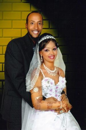 A photograph of Yahyah Wehelie and his wife.