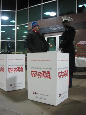Marines are collecting donations for their annual Toys for Tots fundraiser at Union Station Wednesday.