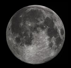 Full moon photograph taken Oct. 22 from Madison, Ala.