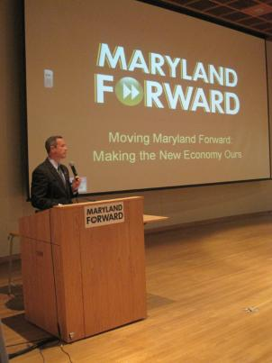 Maryland Gov. Martin O'Malley speaks at a forum on education at Bowie State University.